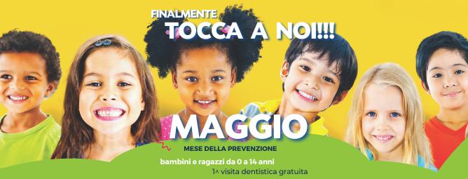 Prima visita dentistica gratuita per bambini e ragazzi da 0 a 14 anni
